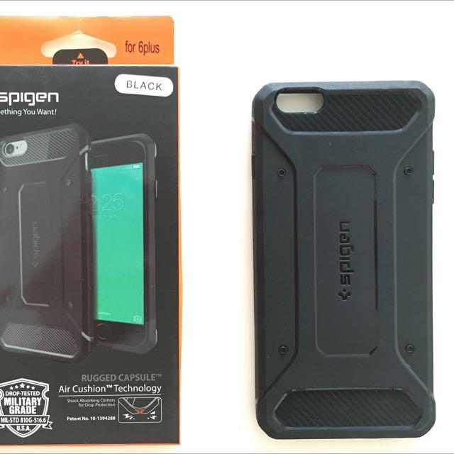 newest f0dcb 15077 Spigen Rugged Armour Capsule iPhone 6/6s Plus