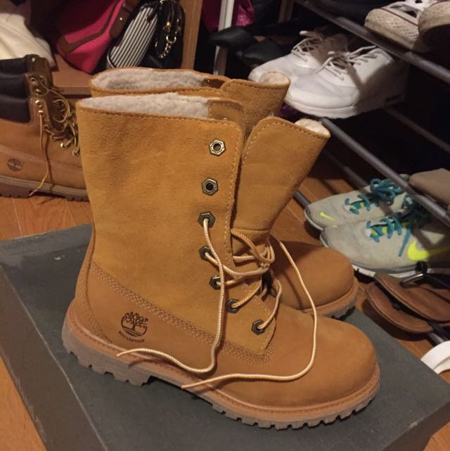 Teddy Fleece Timberlands