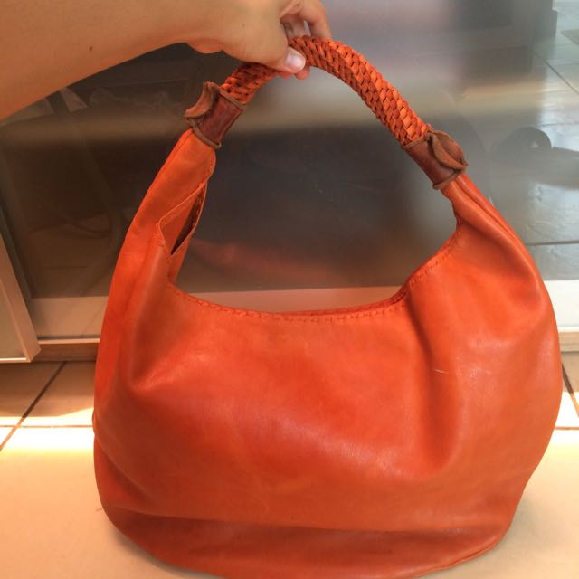 Thailand's Real Leather Orange Bag