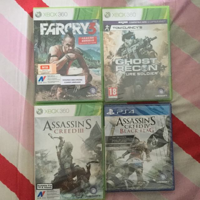 XBOX 360 & PS4 Games