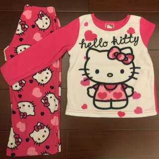 8⃣️成🆕🇺🇸Hello Kitty女童毛呢睡衣組4⃣️歳