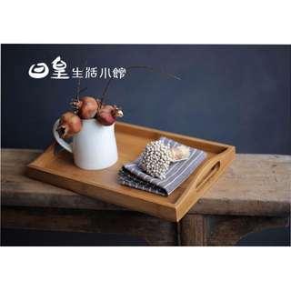 【日皇】竹製托盤 雙耳提手托盤 竹製水果盤 竹製茶盤 茶具茶道配件 現貨