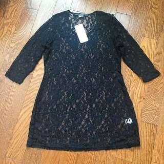 Black Lace Tunic Size Small