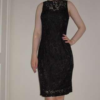 Le Chateau Black Lace Dress