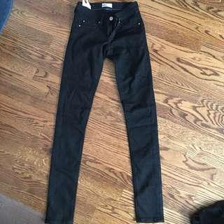 Garage Black Straight Leg Jeans