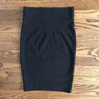 Seductions Black Pencil Skirt