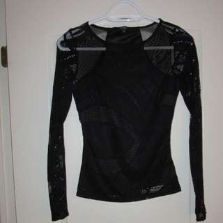 Guess Black Lace Top
