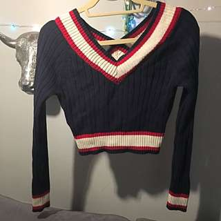 Cropped Knit Sweater - Forever 21