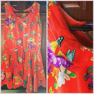 Summer Dress (very Nice Vibrant Color In Actual)