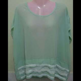 See-through Mint Green Top