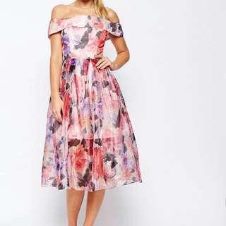 Petite Spring Floral Dress