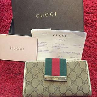 Authentic Full Set Gucci Ladies Wallet