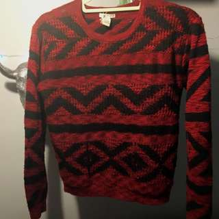 Patterned Knit Sweater - Forever 21