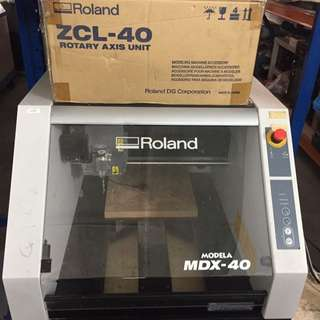 Roland MDX-40 Engraving Cutting Machine With 3D ZCL-40 Rotary Axis Unit(new In Box)