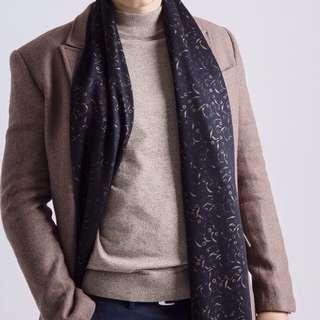 男士英倫風保暖雙面圍巾