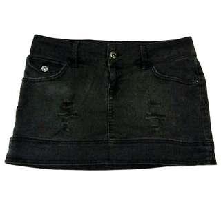 Mango Skirt Black Mini Jeans