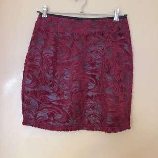 Rosebullet Size 8 Maroon Skirt