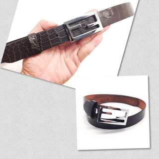 af8a20f6466 Custom Made Crocodile Belt Strap + Authentic Fendi Belt Set