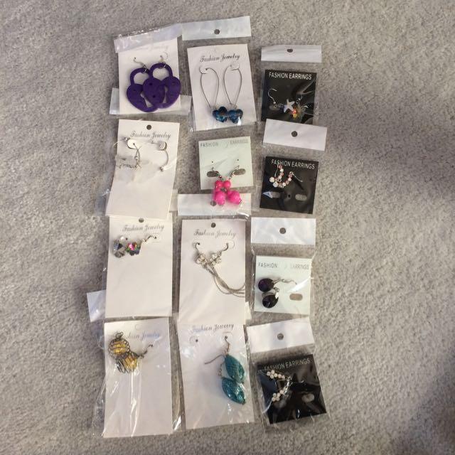 12 Pairs Of Earrings