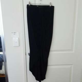 Floor Pength Front Split Skirt