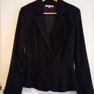 Size 8 Laura Ashley Black Wool Pant Suit