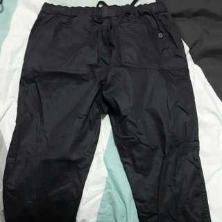 Ziggy Denim Leather Type Track Pants