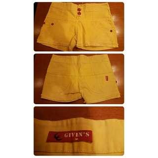 Hotpants Kuning Givin's