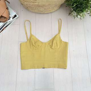 Linen/cotton Crop top