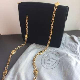 Second Hand Dior Suede Black Chain Bag (with dust bag)