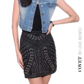 Covet By Love Bonito Beaded Skirt