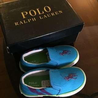 Polo Ralph Lauren Toddler Blue Shoe (size8) 16cm