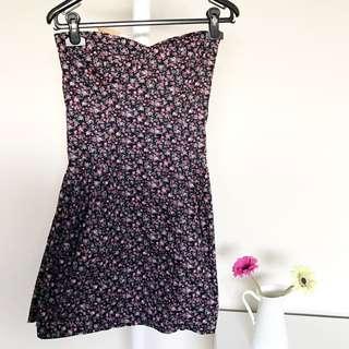 [VALLEYGIRL] Tube Floral Dress
