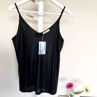 [VALLEYGIRL] Black Metallic Camisole