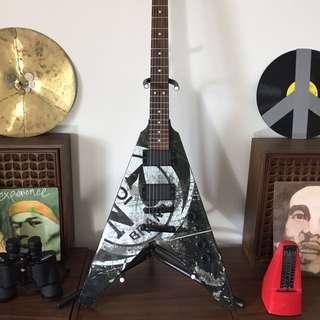 Limited Edition Jack Daniel's Flying V Electric Guitar