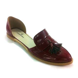 Burgundy Loafers Flats Shoes
