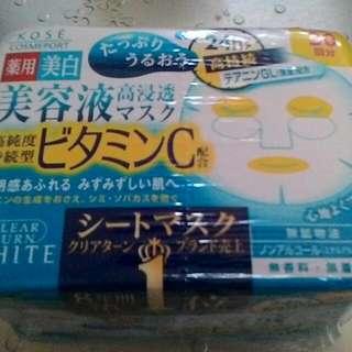 Kose Q10 Or VitC Whitening Face Mask 30sheets Free Ship