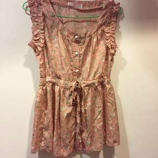 ❤️東京著衣❤️荷葉邊韓版甜美氣質夏衣