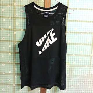 Nike正品透視洞洞性感運動背心(黑色/M)