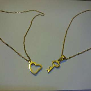 Hear And Key Necklace