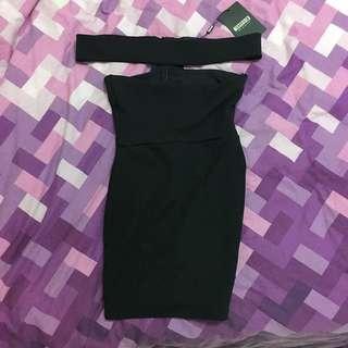 Petite Mini Kyle Jenner Inspired Black Dress