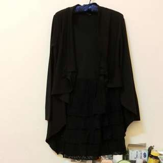 Bear2全新秋天兩件式黑洋裝