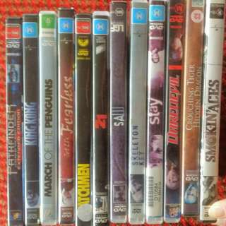 DVDS. $4 Each + Postage