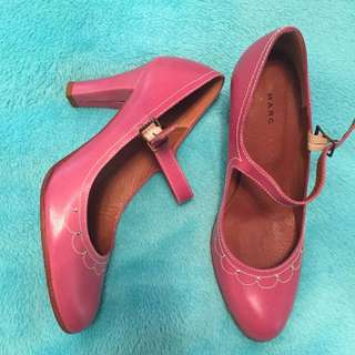 Marc Jacobs Pink Mary-Jane Leather Heels size 5.5 (35.5) - worn once