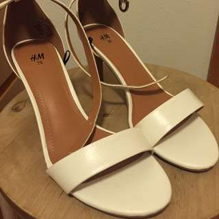 H&M White High Heels