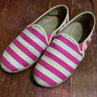pink striped espadrilles (from liliw)