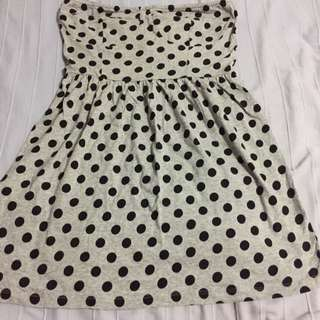 H&M Sweetheart Cut Tube Dress