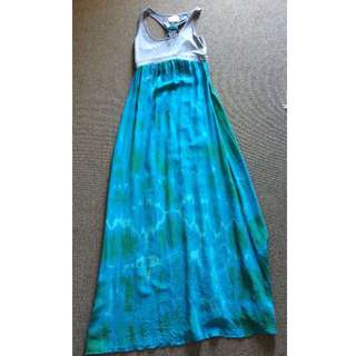Gypsy 05 Silk & Cotton Racerback Maxi Dress 10 M