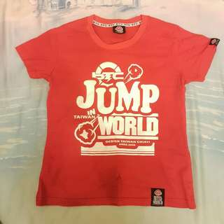 BTC WORLD 紅色T