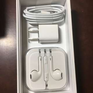 Apple iPhone Adapter and EarPods