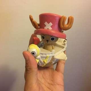 航海王💘海賊王💘one Piece 塑膠喬巴加小梅利號❤️